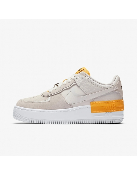 NIKE AIR FORCE 1 SHADOW VAST GREY/VAST GREY-LASER ORANGE-WHITE