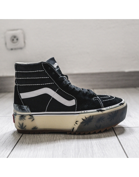VANS SK8 HI STACKED LX PALM BLACK
