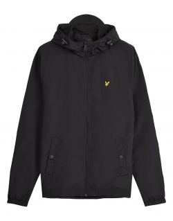 LYLE & SCOTT ZIP THROUGH HOODED JACKET JET BLACK