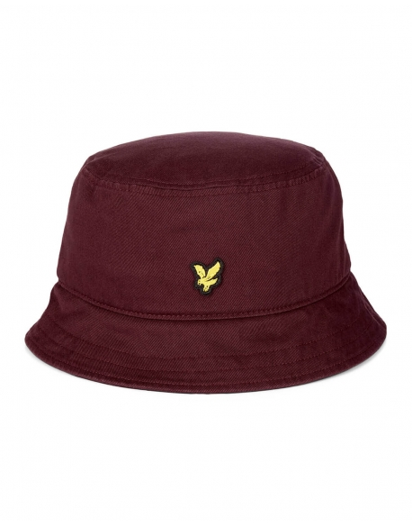 LYLE & SCOTT BUCKET HAT MERLOT