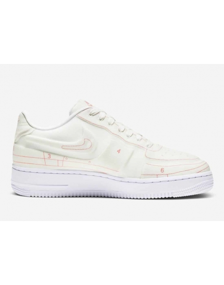 NIKE AIR FORCE 1 '07 LUX SUMMIT WHITE/SUMMIT WHITE-UNIVERSITY RED