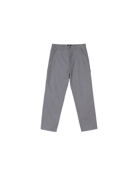 STUSSY WASHED CARPENTER PANT GREY