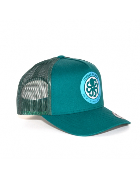 JONSEN ISLAND TRUCKER HAT LOGO ALL GREEN