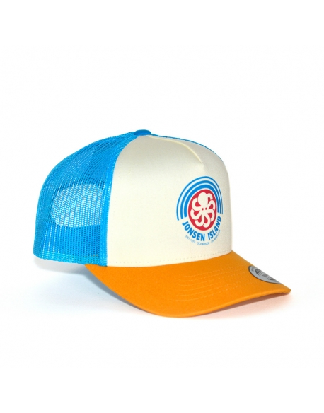 JONSEN ISLAND TRUCKER HAT RAINBOW ROYAL