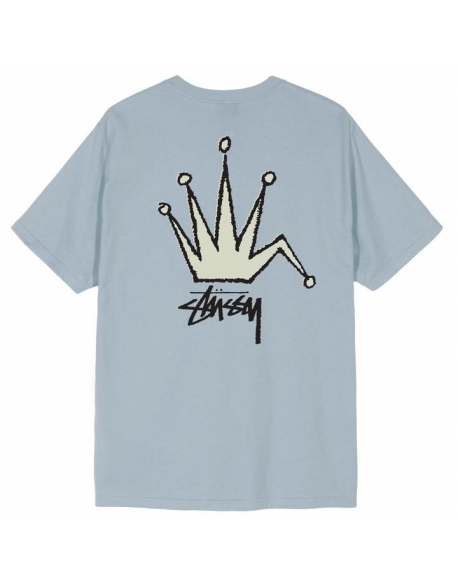 STUSSY OLD CROWN TEE SLATE
