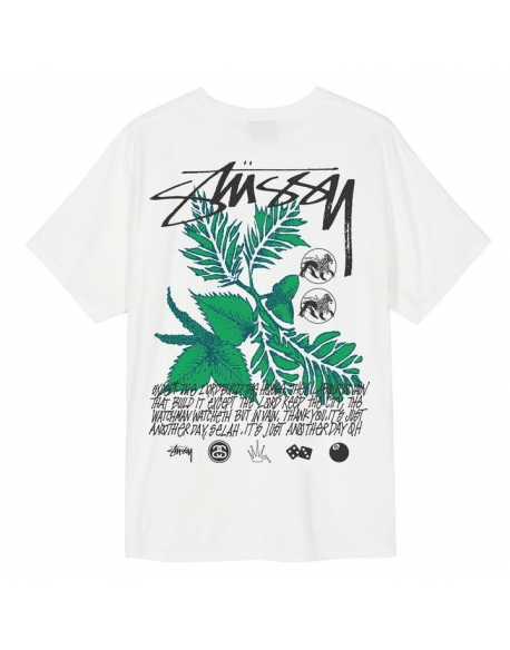 STUSSY BLOOM PIG DYEAD TEE NATURAL