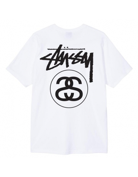 STUSSY STOCK LINK TEE WHITE