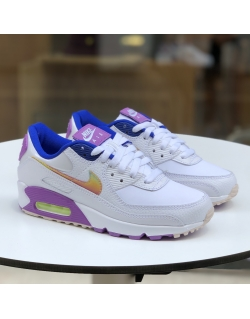 NIKE AIR MAX 90 SE WHITE/MULTI-COLOR-PURPLE NEBULA