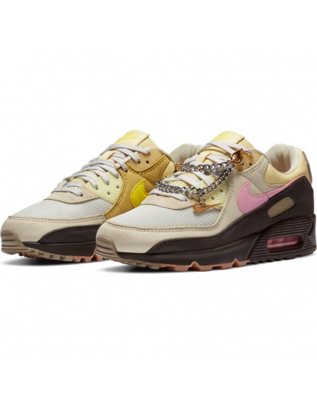 NIKE AIR MAX 90 VELVET BROWN/PINK-LT BRITISH TAN