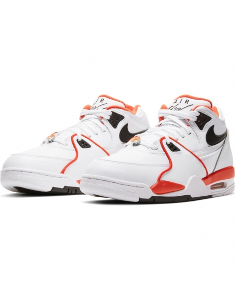 NIKE AIR FLIGHT 89 EMB WHITE/BLACK-TEAM ORANGE