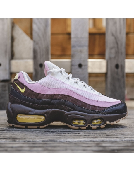NIKE AIR MAX 95 VELVET BROWN/OPTI YELLOW-LT BRITISH TAN