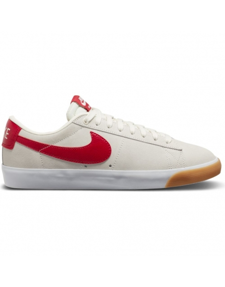 NIKE SB BLAZER LOW GT SAIL/CARDINAL RED-WHITE-GUM