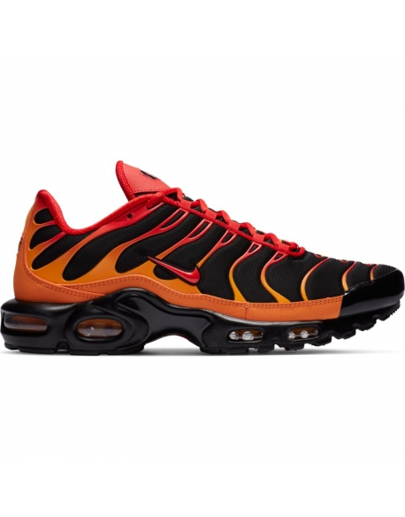 "NIKE AIR MAX PLUS ""VOLCANO"" BLACK/CHILE RED-VIVID ORANGE"