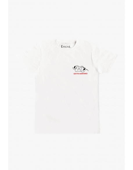 ENCRE GESTES BARRIERES TEE WHITE