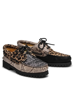 TIMBERLAND X CHINATOWN MARKET 3-EYE LUG BLACK / ANIMAL PRINT