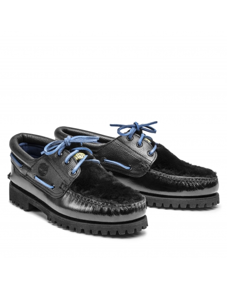 TIMBERLAND X CHINATOWN MARKET 3-EYE LUG BLACK / BLUE