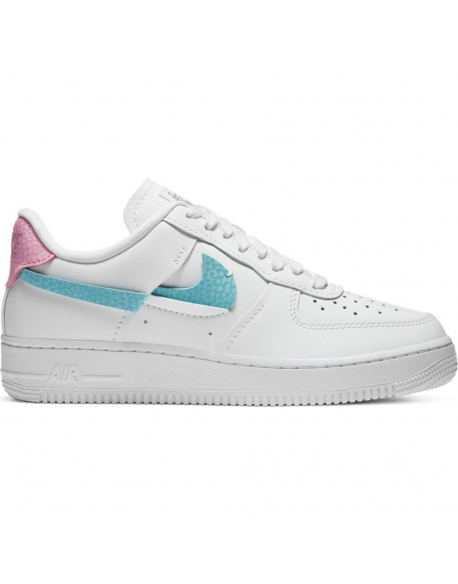 NIKE AIR FORCE 1 LXX WHITE/BLEACHED AQUA-PINK RISE