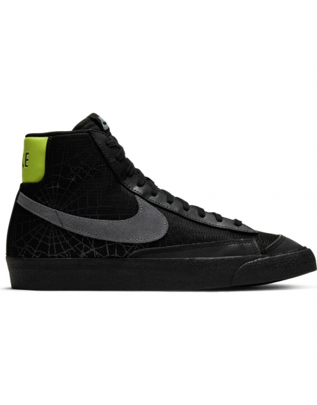 "NIKE BLAZER MID '77 ""SPIDER WEB"" BLACK/SMOKE GREY-LIMELIGHT"