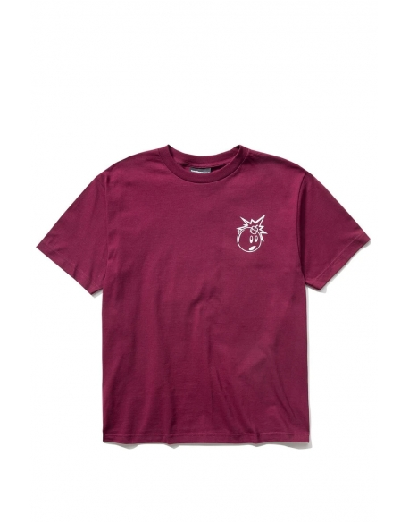 THE HUNDREDS FOREVER SIMPLE ADAM T-SHIRT BURGUNDY