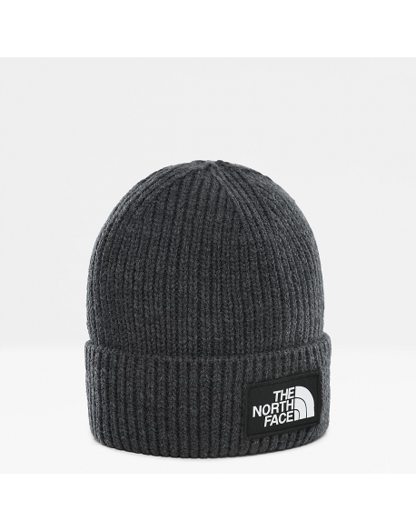 THE NORTH FACE LOGO BOX CUFFED BEANIE TNF MEDIUM GREY HEATHER