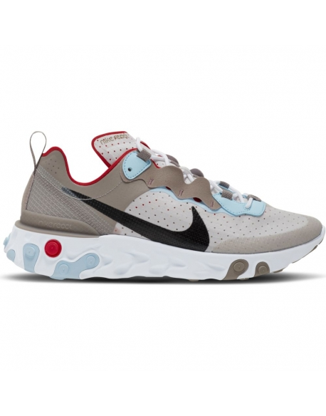 NIKE REACT ELEMENT 55 ENIGMA STONE/BLACK-VAST GREY