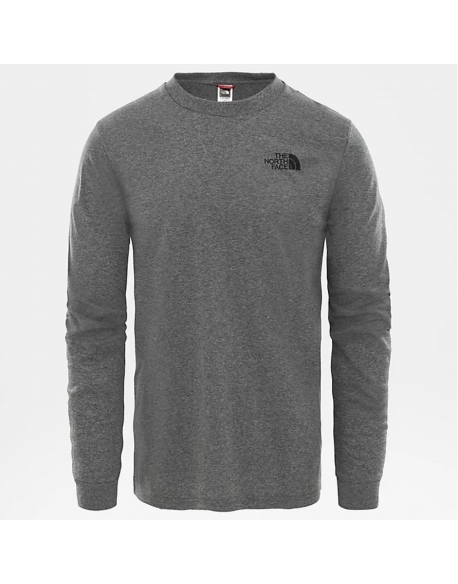 THE NORTH FACE L/S SIMPLE DOME TEE GREY HEATHER