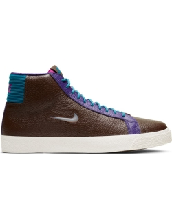 NIKE SB ZOOM BLAZER MID PREMIUM BAROQUE BROWN/WHITE-GREEN ABYSS