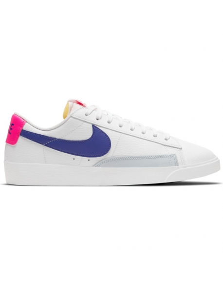NIKE BLAZER LOW WHITE/CONCORD-HYPER PINK-PURE PLATINUM