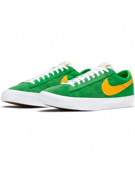 NIKE SB ZOOM BLAZER LOW PRO GT LUCKY GREEN/UNIVERSITY GOLD