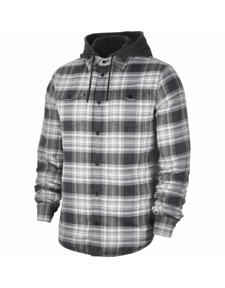 NIKE SB FLANNEL SKATE TOP HOOD BLACK