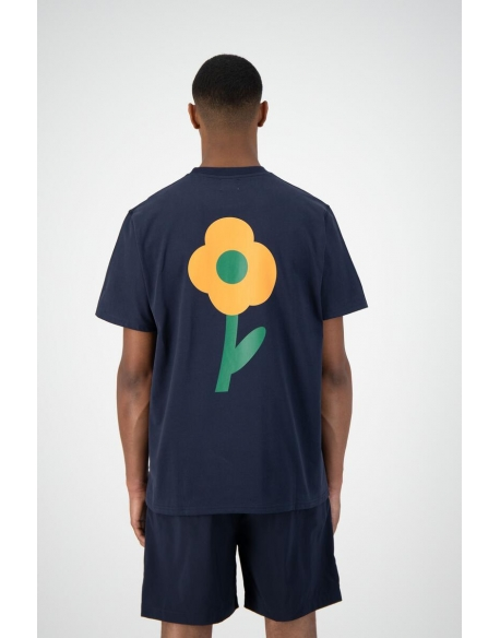 ARTE TOMI BACK FLOWER TEE NAVY