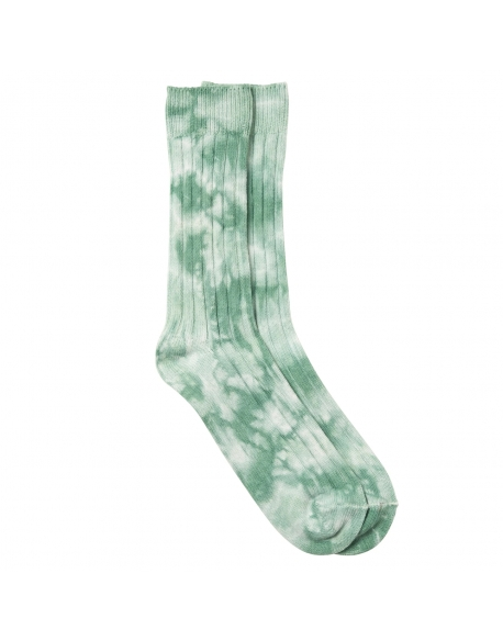 STUSSY DYED RIBBED CREW SOCKS GREEN