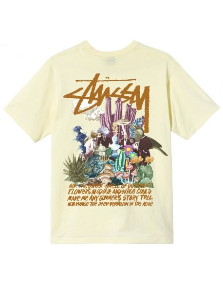 STUSSY PSYCHEDELIC TEE PALE YELLOW
