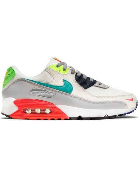 NIKE AIR MAX 90 PEARL GREY/SPORT TURQ-SUMMIT WHITE