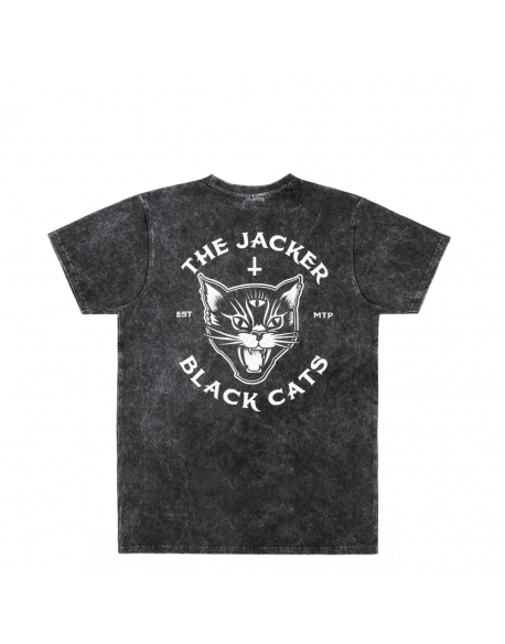JACKER BLACK CATS T-SHIRT STONEWASH
