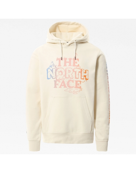 THE NORTH FACE HIMALAYAN BOTTLE SOURCE HOODIE VINTAGE WHITE