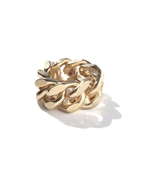 Billie Sacré Coeur Chain gang ring large 24K Gold Plated