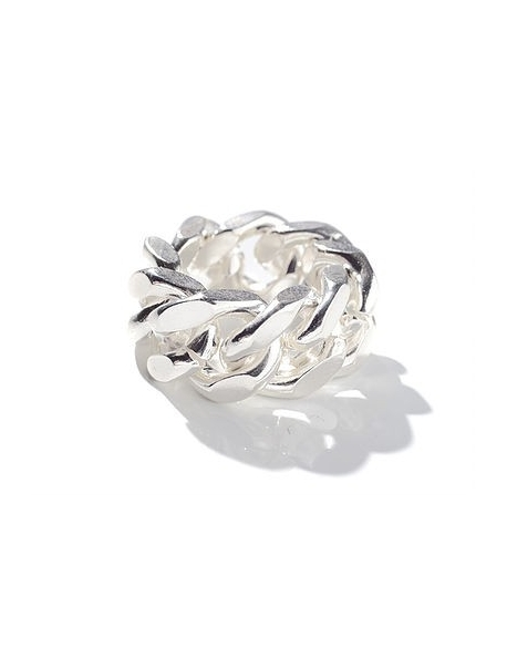 Billie Sacré Coeur Chain gang ring large Silver Plated