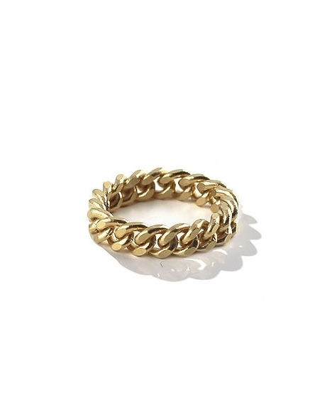 Billie Sacré Coeur Chain gang ring small 24K Gold Plated
