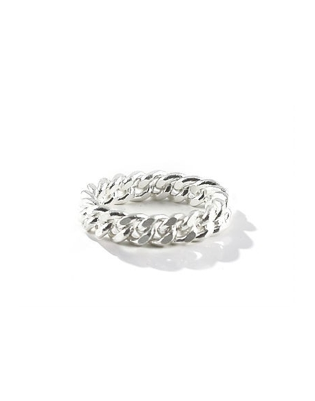 Billie Sacré Coeur Chain gang ring small Silver Plated