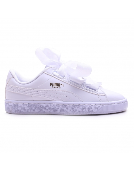 Basket Heart Patent Wmns White