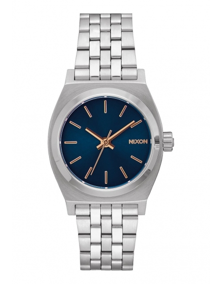 Nixon Medium Time Teller Navy Silver