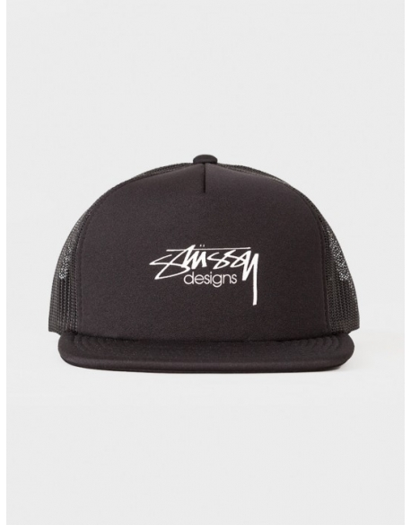 Stussy Smooth Stock Trucker Cap Noir