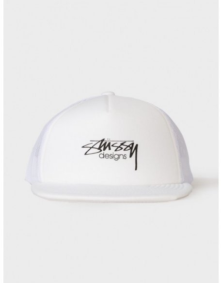Stussy Smooth Stock Trucker Cap Blanche