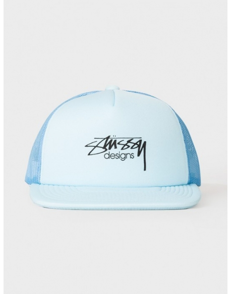Stussy Smooth Stock Trucker Cap Bleu