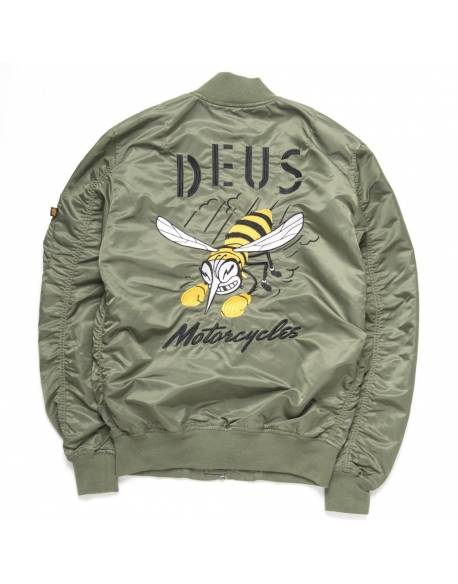 Deus MA 1 Flight Jacket Green