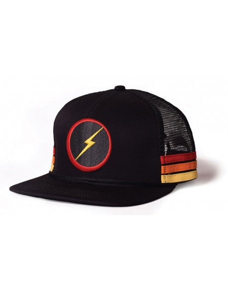 Lightning Bolt Sunset Stripe Caps