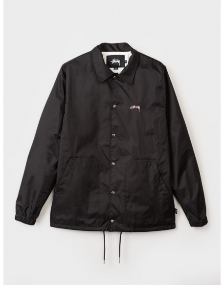 STUSSY ST SPRING COAT JACKET BLACK