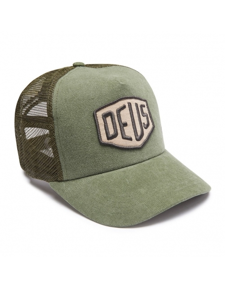 Deus Foxtrot Shield Trucker olive
