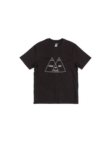POLER APPAREL VENN TEE BLACK